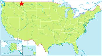 グレーシャー国立公園 地図