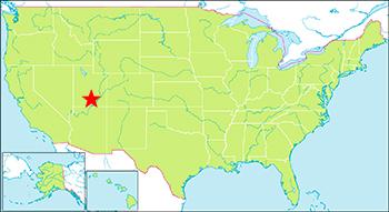ブライスキャニオン国立公園の地図
