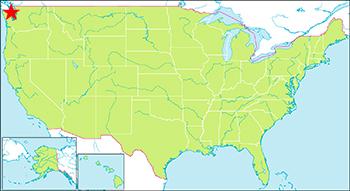 オリンピック国立公園の地図