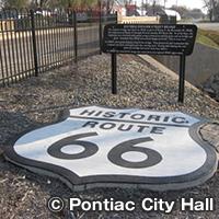 ポンティアック ルート66の観光スポットがある街
