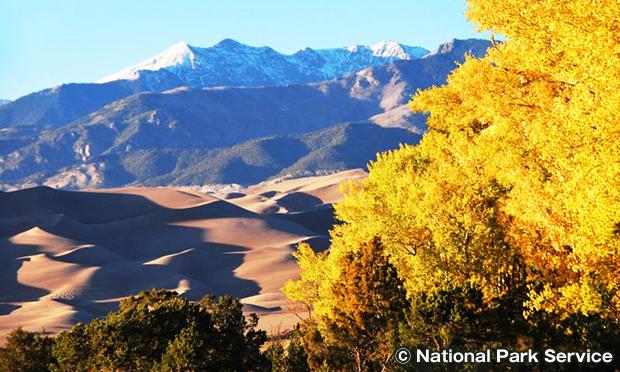 山から見るグレートサンドデューンズ