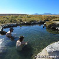 マンモスレイクの天然温泉