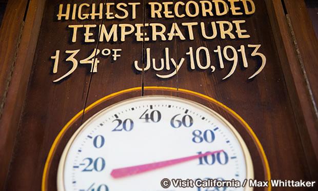 世界最高の気温である華氏134度(摂氏 56.7度)を記録