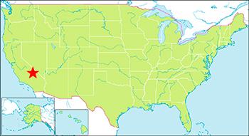 デスバレー国立公園地図