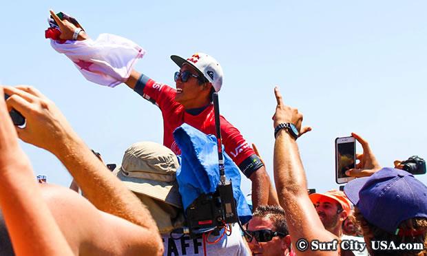 五十嵐カノア選手 日本人で初めての連覇