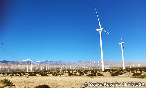 無数の風力発電用のタービン