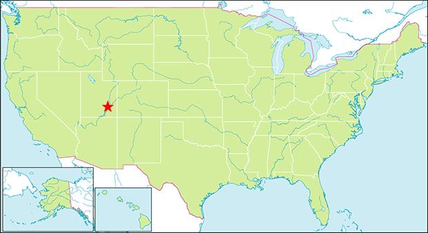 キャニオンランズ国立公園の行き方と場所