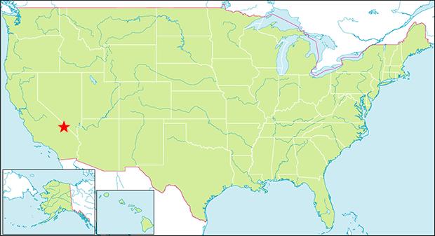 デスバレー国立公園の行き方と場所