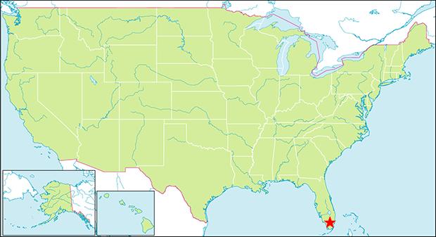 エバーグレーズ国立公園の行き方と場所
